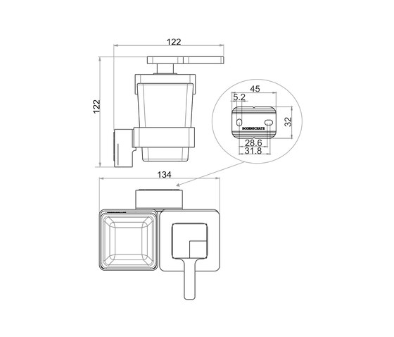 Simara Combined soap dispenser and glass holder de Bodenschatz | Dosificadores de jabón