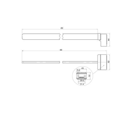 Simara Towel rail, single by Bodenschatz | Towel rails