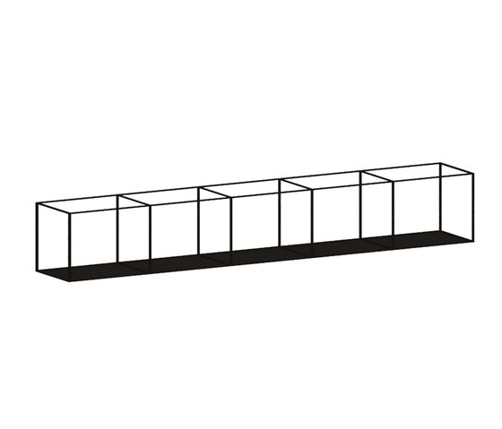 Slim Irony Wall Rack by ZEUS | Shelving