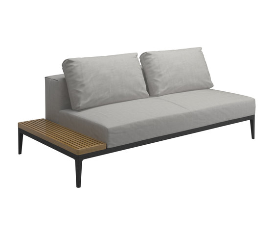 Grid Left / Right End Table Unit by Gloster Furniture GmbH   Garden sofas