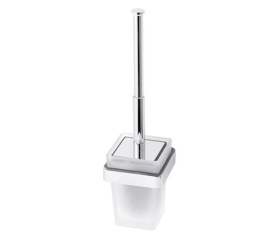 Simara Toilet brush set with closing lid by Bodenschatz   Toilet brush holders