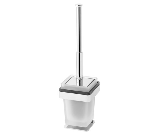 Simara Toilet brush set, stand model with closing lid by Bodenschatz | Toilet brush holders