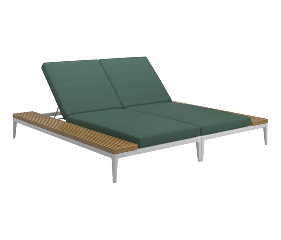 Grid Double Lounger by Gloster Furniture GmbH | Sun loungers