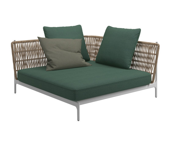 Grand Weave Large Corner Unit by Gloster Furniture GmbH | Seating islands