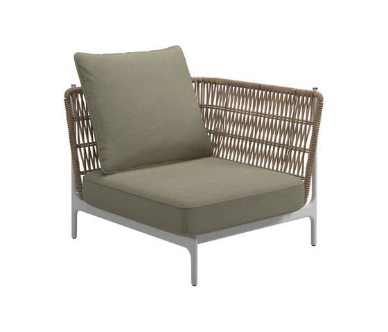 Grand Weave Small Corner Unit by Gloster Furniture GmbH | Armchairs