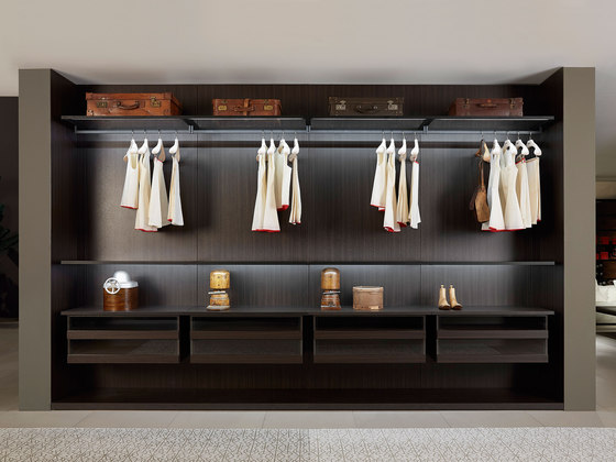 Storage Boiserie by PORRO | Walk-in wardrobes