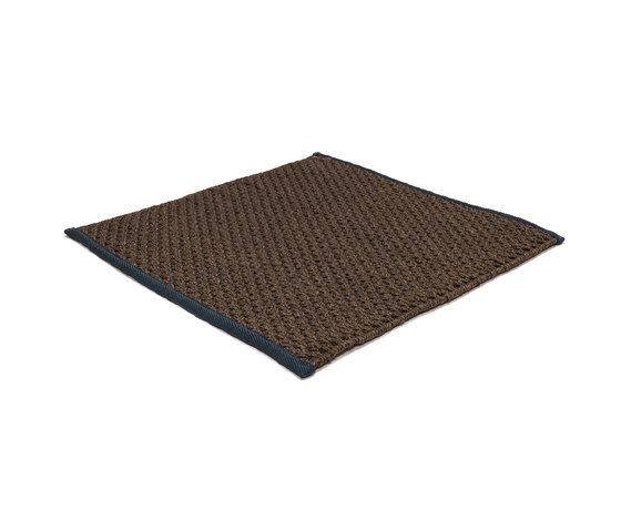 Sonic Waves brown & navy by kymo | Rugs