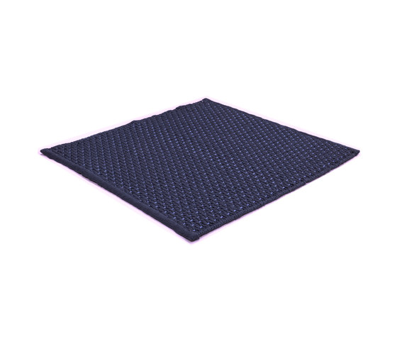 Sonic Waves navy blue by kymo | Rugs