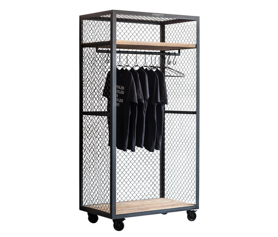 CLOTHES SHELF MESH WHEELS di Noodles Noodles & Noodles | Armadi