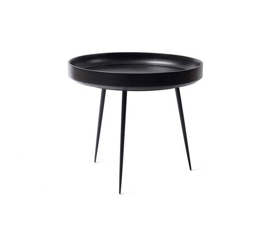 Bowl Table - Black Stained Mango Wood- L di Mater | Tavolini alti
