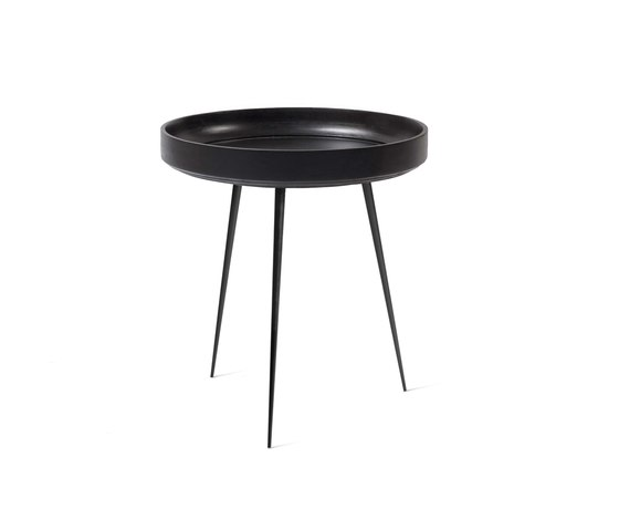 Bowl Table - Black Stained Mango Wood- M by Mater | Side tables