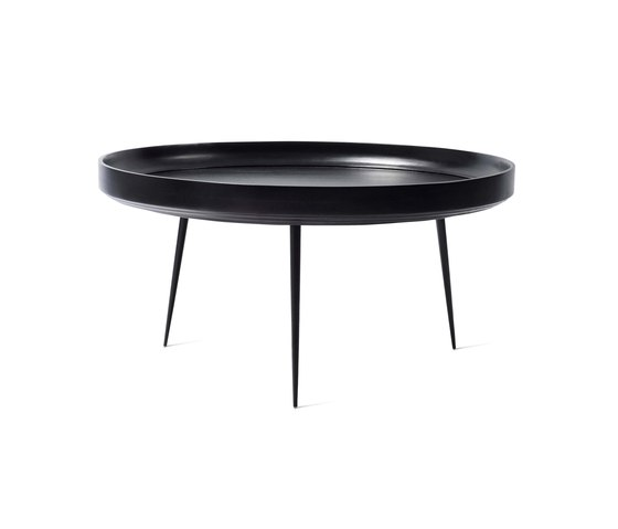 Bowl Table - Black Stained Mango Wood- XL by Mater | Side tables