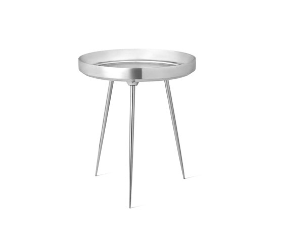 Bowl Table - Partly Recycled Aluminium - Polished by Mater | Side tables