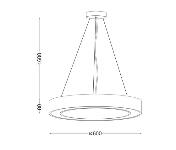 Ring 600 by Ilmas | Suspended lights
