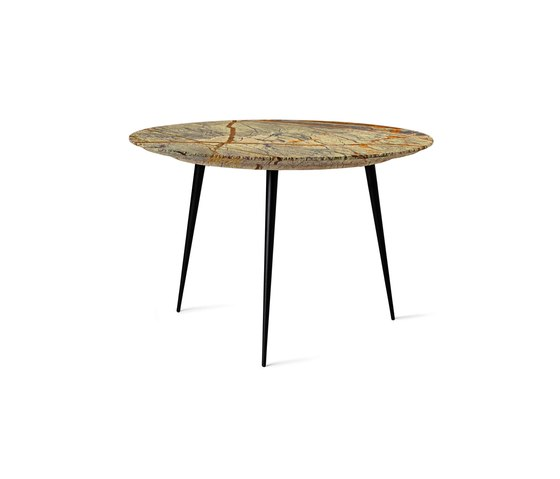 Disc side Table - Jungle Green Marble - Small de Mater | Tables basses