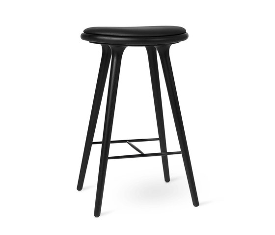 High Stool - Black Stained Oak - 74 cm by Mater | Bar stools