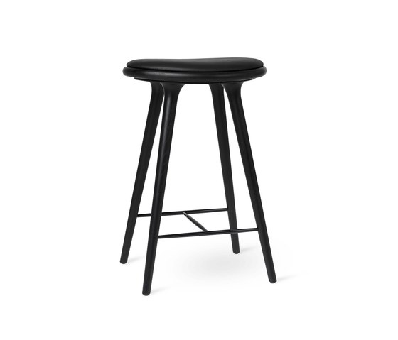 High Stool - Black Stained Oak - 69 cm by Mater | Bar stools