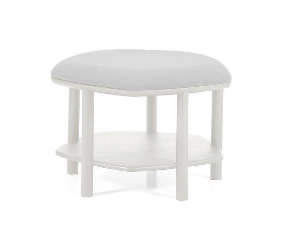 Pouf table basse Abel Small 55cm, gris clair de Hartô | Poufs