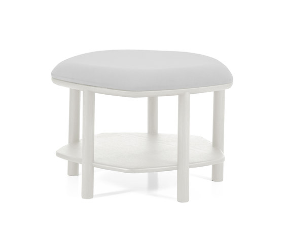 Ottoman coffee table Abel Small 55cm, light grey by Hartô | Poufs