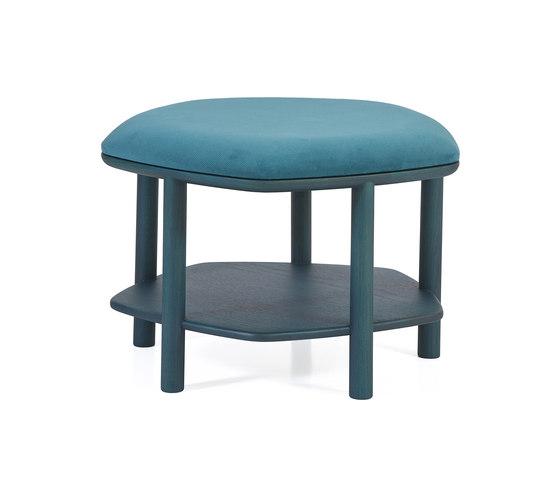 Pouf table basse Abel Small 55cm, bleu petrole de Hartô   Poufs