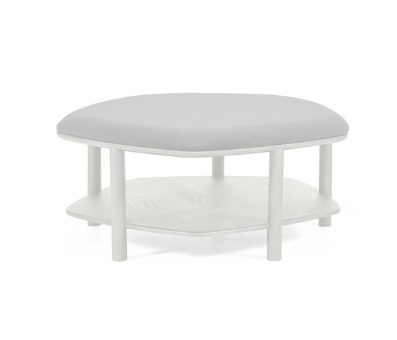 Pouf table basse Abel Large 84cm, gris clair de Hartô | Poufs