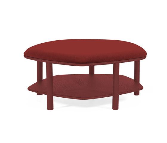 Pouf table basse Abel Large 84cm, bordeaux de Hartô | Poufs