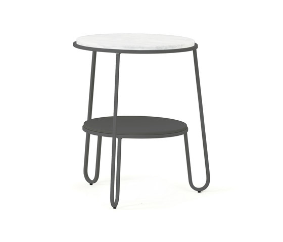 Side table Anatole in marble, slate grey by Hartô | Side tables