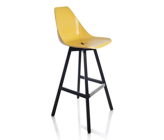X Wood Stool by ALMA Design | Bar stools