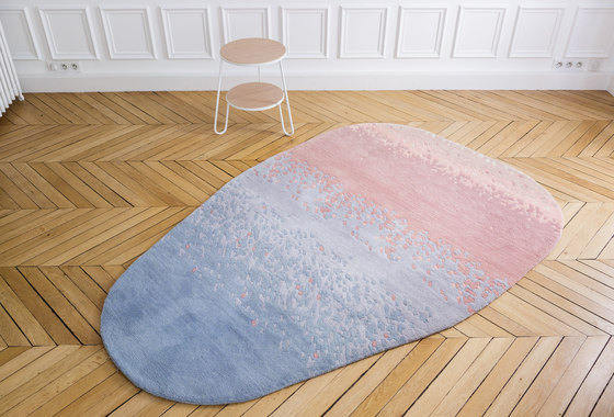 Carpet Aube, faded pink and blue by Hartô | Rugs