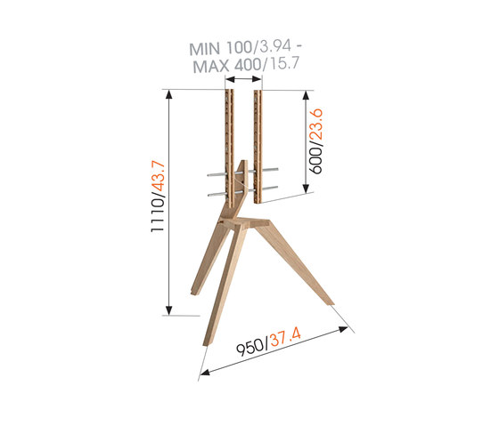 OP1 | Pied support TV de Vogel's Products bv | Supports multimédia