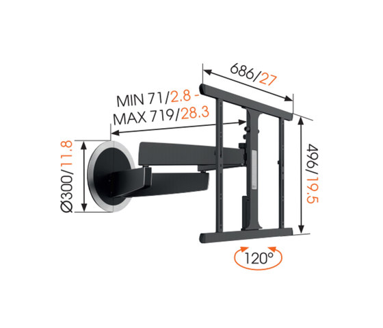 NEXT 7355 | MotionMount by Vogel's Products bv | Multimedia stands