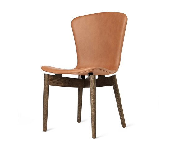 Shell Dining Chair - Ultra Brandy - Sirka Grey Oak by Mater | Chairs