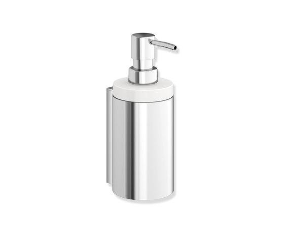 Soap dispenser with holder chrome | 900.06.00140 di HEWI | Portasapone liquido