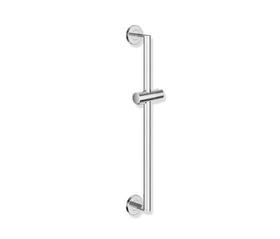 Rail with shower head holder chrome | 900.33.03040 di HEWI | Rubinetteria doccia