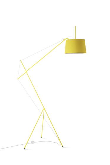 Floor lamp Elisabeth, lemon yellow di Hartô | Lampade piantana