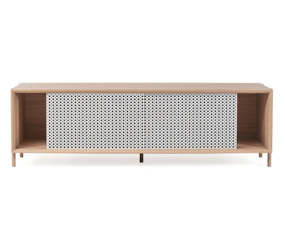Gabin sideboard 162cm without drawers, light grey de Hartô | Aparadores