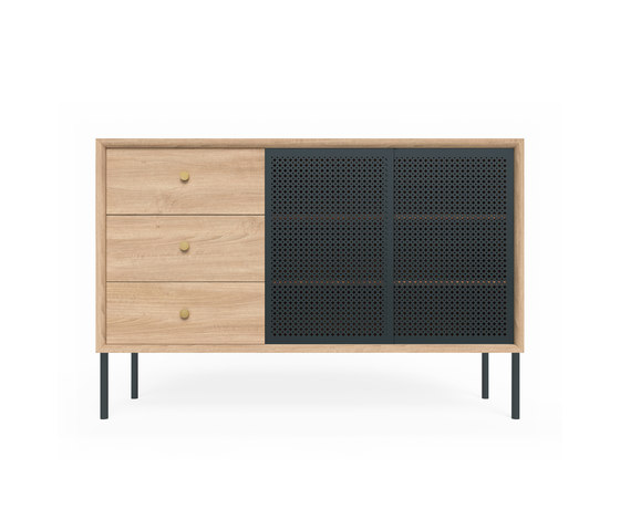 High sideboard Gabin, natural oak and slate grey by Hartô | Sideboards