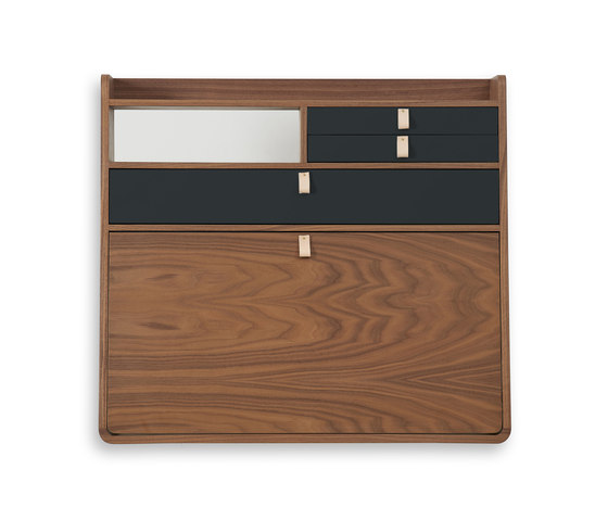 Wall secretary desk Gaston walnut 80cm di Hartô | Scrivanie