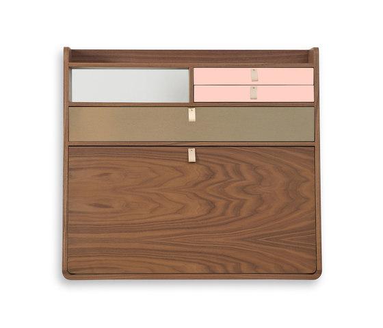 Wall secretary desk Gaston walnut 80cm di Hartô | Scrivanie