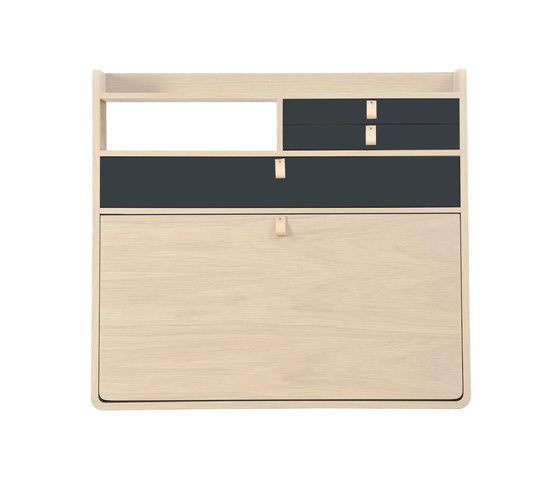 Wall secretary desk Gaston oak 80cm di Hartô | Scrivanie