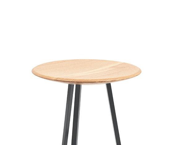 Bar stool Grand Gustave oak H77, slate grey by Hartô | Bar stools