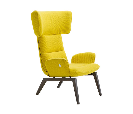 @-Chair | Armchair Wooden Base by Ligne Roset | Armchairs