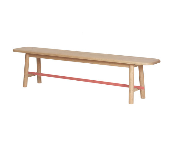 Bench Hector, coral by Hartô | Benches