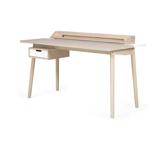 Desk Honore oak, white di Hartô | Scrivanie