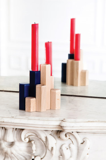 Candle holders Jacques, navy blue by Hartô | Candlesticks / Candleholder