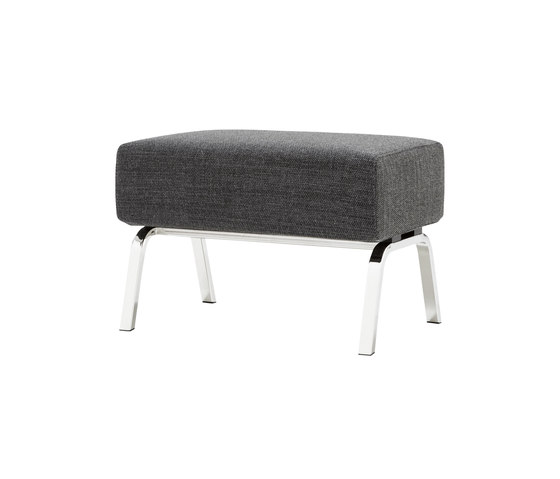 Archi | Footstool Brilliant Chromed Base by Ligne Roset | Poufs