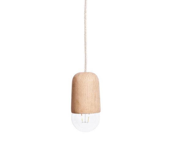 Pendant light Luce Medium, natural oak by Hartô | Suspended lights
