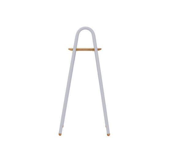 Stool Lucien round handles, light grey by Hartô   Stools