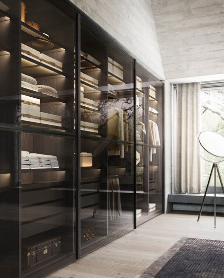 Center Sliding Doors by Former | Display cabinets