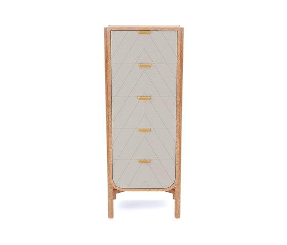 Marius | Tall chest, light grey von Hartô | Sideboards / Kommoden